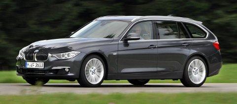 NYINNPAKKET: Ingen dramatiske endringer på BMWs 3-serie stasjonsvogn. 3-serien er verdens mest kjøpte premiumbil. Foto: Øivind Skar