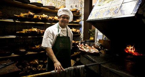 Sobrino de Botin har status som verdens eldste restaurant. Spesialiteten  er pattegris, ifølge kokk Roel Alim.