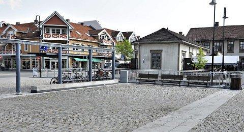 Sp-politiker Kari Anne Sand synes det er mye stein i dette området. Hun skulle gjerne sett noe grønt her. Er du enig? FOTO: STÅLE WESETH