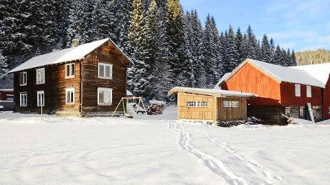Dette lille småbruket ligger på Buan, et sted utenfor Kvål i Melhus kommune.