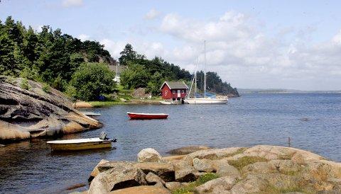 I Østfold er sjøhyttene lavere priset enn i Agderfylkene, Vestfold og Telemark.