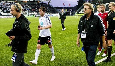 Avgjorde sist. Simen Brenne ble matchvinner sist Odd møtte FFK i Skien. Søndag er det duket for et nytt oppgjør på Skagerrak Arena. – Det er vi som har presset, mener midtbanespilleren. Arkivfoto: Scanpix