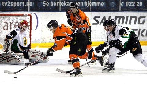 Frisk spiller treningskamp mot Vålerenga på Jordal amfi. Bildet er fra en tidligere kamp.