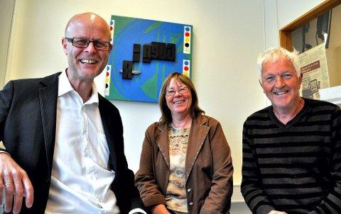 Tore Dvergastein, Marit Lundstad og Gunnar Hansen håper mange finner veien til Borre kirke mandag 25. juni.