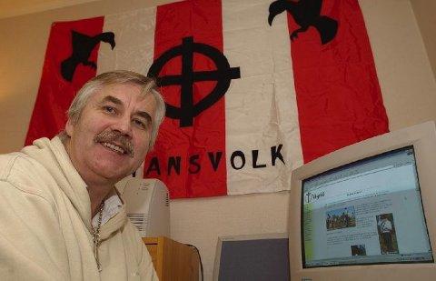 <b>Falskt?</b> Tore Wilhelm Tvedt, mannen bak den høyreekstreme organisasjonen Vigrid, mener politiet opererer med et falskt bevis mot ham. (Foto: Hans O. Torgersen)