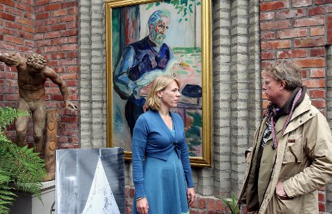 Petter Olsen møtte i Oransjeriet, hvor original Munch ble vist.