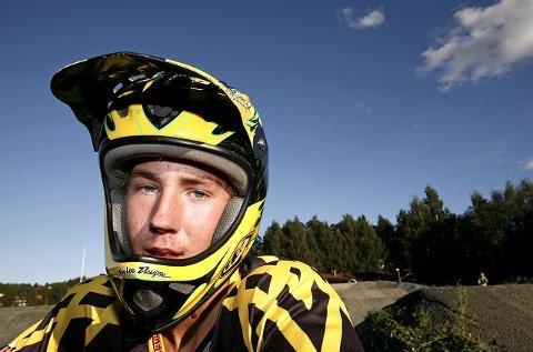 Erik Røseth fra Moss BMX Club ble nummer to i norgescupen sammenlagt i den store 13–14-årsklassen. Foto Pål Andreassen