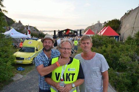 F.v: Booking-ansvarlig, Henrik Island Larsen, arrangør, Per Olaf Larsen og grunnlegger og en ekte kjerringviking Even Andersen, var alle enige i at årets festival var helt fantastisk.