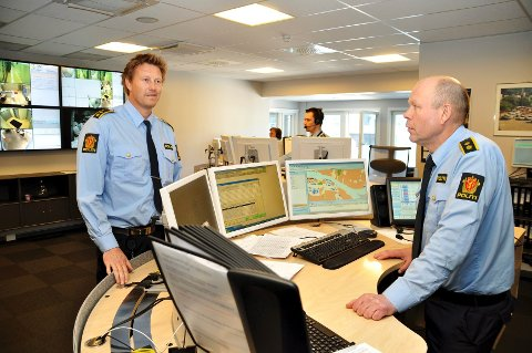 Morten Qvist og Magne Lie fortviler over de mange tulletelefonene til nødnummer 112.