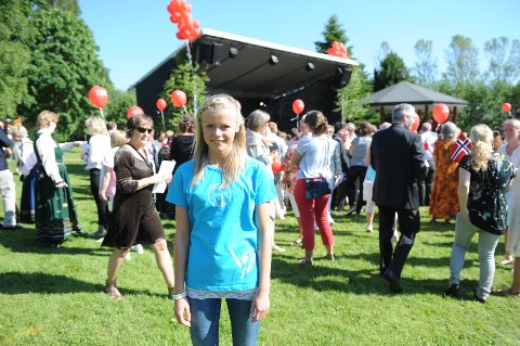 Malin Kortgård både gledet og gruet seg før hun skulle synge for kongeparet.