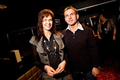 Lisbeth Halvorsen og Ota Kapoun fra Elixia på vei til fest ikveld. Disse ble også blant vinnerne.
