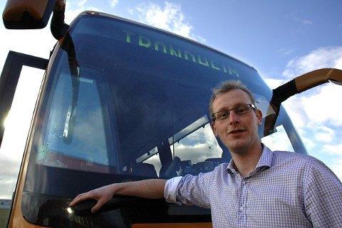 HÅPER PÅ OPPSLUTNING: Trafikksjef i Østerdal Billag, Trond Egil Kvisten, håper på god respons på ny bussrute til Trondheim.<I>Foto: Guril Bergersen</I>