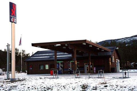 Hydro Texaco stasjonen på Åkrestrømmen i Rendalen