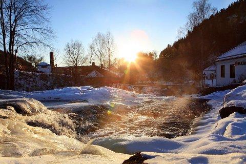 Det blir mange minusgrader og klart vær i Asker og Bærum i starten av desember måned, som her på Bærums Verk.