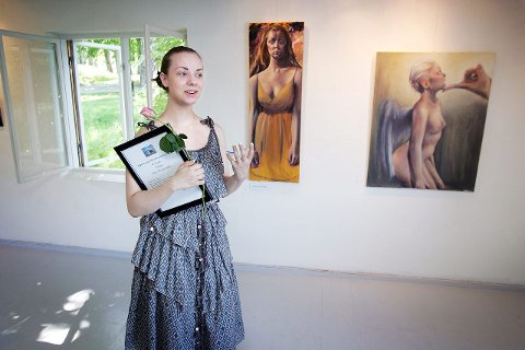 Lidenskap: – Hvis jeg ikke hadde fått malt hadde jeg vært helt skjelven og livet kaotisk, fortalte stipendvinneren for klasse 17–20 år, Eline Steen Johansen.