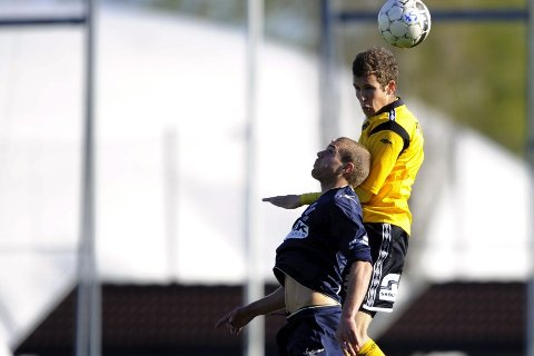 vellykket grep Martin Thømt Jensen gjorde en god jobb som spiss, og var MFKs beste spiller mot Senja. foto morten olsen, digitalsport