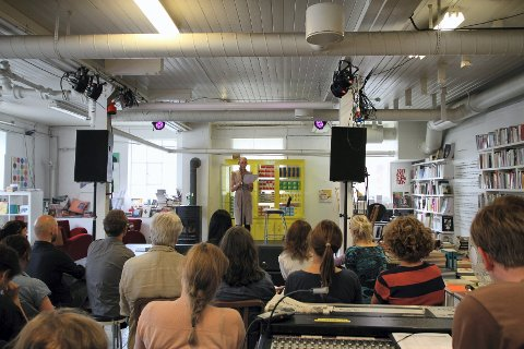Den kanadiske forfatteren Anne Carson gjestet litteraturfestivalen lørdag.