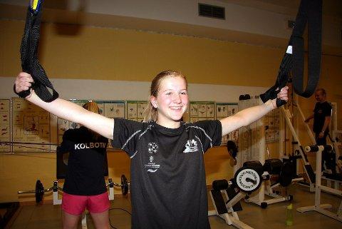 LANGE ARMER: Thea Kristine Nord må ta i, som god brystsvømmer skal bli ...