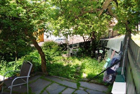 Denne hagen midt i Tønsberg sentrum kan bli noe ganske annet på arkitektenes papir.
