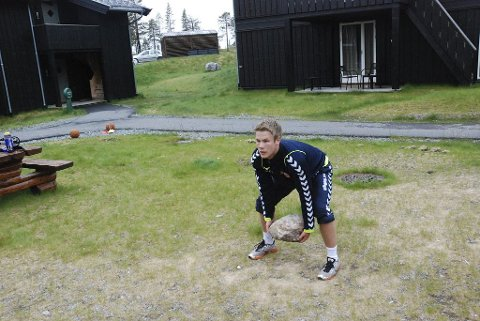 STEINTØFT: Michael Jonassen i aksjon