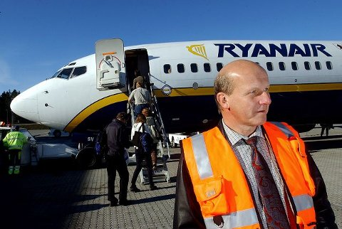 Alf Reidar Fjeld, lufthavnsjef på Sandefjord Lufthavn Torp, ønsker ikke å mene noe om det siste Ryanair-utspillet.