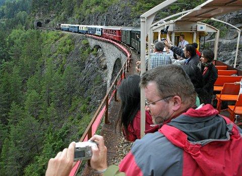 Det finnes mange flotte togreiser i Europa i tillegg til Flåmsbana. Rhaetian-banen er et eksempel. Den kjører tog mellom St. Moritz og Tirano (Italia). Store deler av strekning står på UNESCOs verdensarvliste. Her er toget på den kjente Landwasser-viadukten.