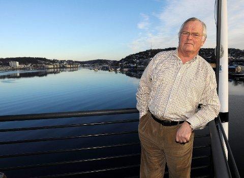 Styreleder i Nordic American Tanker Shipping Ltd (NAT), Herbjørn Hansson, mener hensynet til Sandefjord Lufthavn Torp er viktigere enn personlig prestisje i saken rundt flyplassen på Torp. FOTO: OLAF AKSELSEN