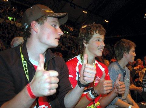 ROOKIES: Vebjørn Bleka (t.v.) og Ole Magnus Syljuberget fra juniorlandslaget heiet på Lierhagen under individuelt mesterskap lørdag.