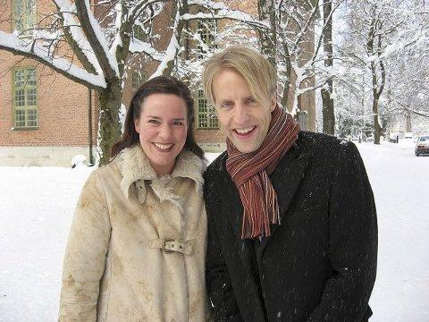 ARRANGØRER: Isa Katharina Gericke og Olof Boman kunstneriske ledere Glogerfestspillene gloger. Foto Eigil Kittang Ramstad