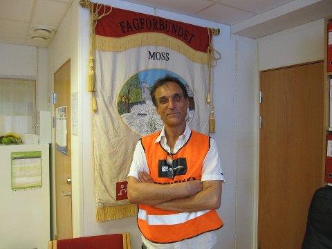 Tirsdag etter pinse tas ytterligere 188 av Fagforbundets medlemmer i Moss ut i streik, sier Frank Bergflødt.
