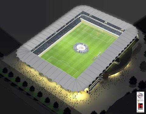 HEL STADION: Nye Briskeby får tak rundt hele stadion, og det blir ingen åpninger i hjørnene på det toppmoderne anlegget slik det var vanlig før.