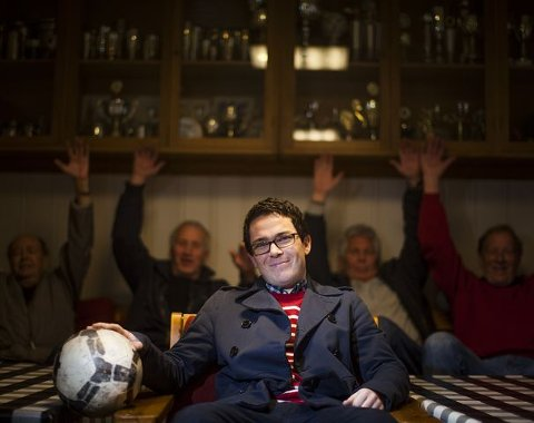 Nå er han sjefen. Jørgen Brostrøm var for ung for å spille seniorfotball i Torp, derfor ble han fotball-leder. I dag sesong åpner de mot Sparta.Begge foto: Anton Ligaarden