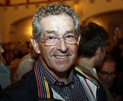 Magnus Larsen (71) fra Haslum var en av mange hundre som ville møte Snåsamannen.