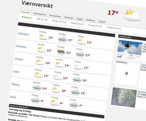 Symbolene vil fortsatt dukke opp, men meteorologenes bearbeidede værmeldinger i tekstform vil forsvinne fra onsdag.