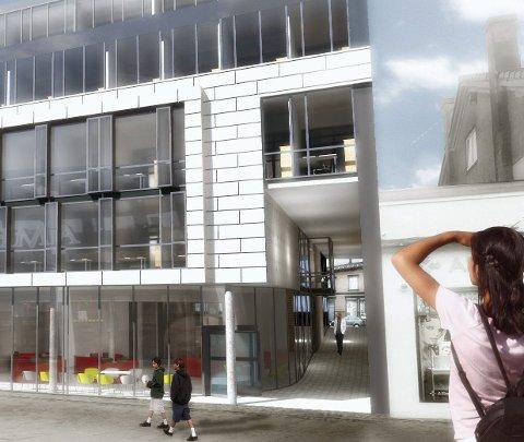 Med lave nabobygninger vil prosjektet i Dronningensgate 6 ruve i bybildet. Forsøket på en samordnet utbygging av kvartalet strandet. Men Høgeh Eiend vil gå videre med sitt prosjekt.