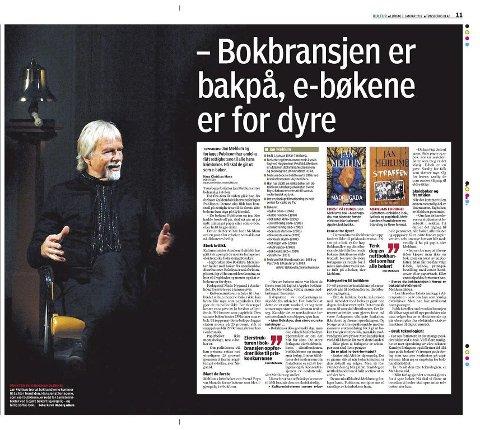 KRITISK: Jan Mehlum tok tidligere i år et oppgjør med norsk bokbransje. Nå får man alle utgivelsene hans på alle plattformer. Tønsbergs Blad 7. januar 2012