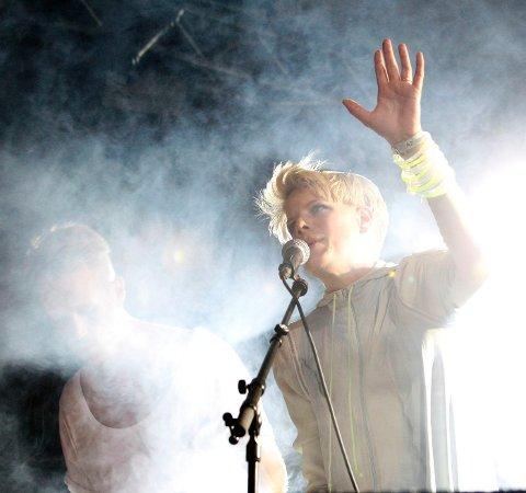 ELEKTRONIKA: Sandra Kolstad fra Eiksmarka spiller på Slottfjellsfestivalen i sommer. FOTO: ULF HANSEN