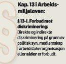 Arbeidsmiljøloven: Forbyr aldersdiskriminering.