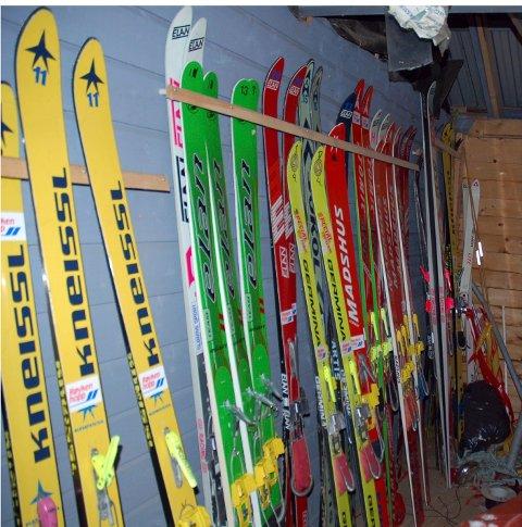Skiene på bildet har ingenting med skiene som ble funnet på E134 å gjøre.