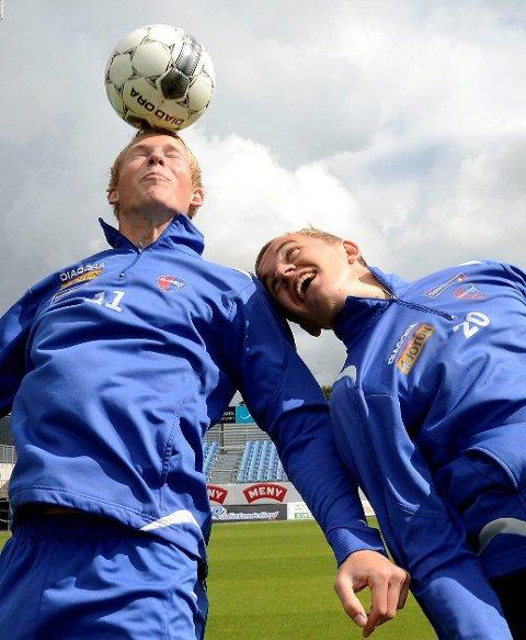 Både Martin Torp (til venstre) og Martin Brekke vil trå til dersom de blir valgt til å spille mot Leeds. De går inn i kampen med samme innstillingen de har til alle kamper – de ønsker å vinne, selv om det dreier seg om en vennskapskamp. Foto: Olaf Akselsen