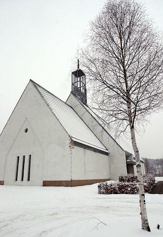 JUBILANT: Lommedalen kirke er 15 år og menigheten feirer kommende helg. ARKIVFOTO