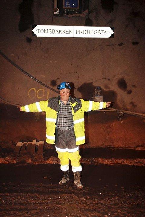 BEGGE VEIER: Adkomsttunnelen fra Kjelle blir Jarlsbergtunnelens rømningsvei når Odd Johansen og hans folk har sprengt seg ut i begge retninger.