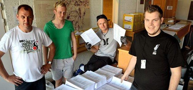 Sven Helge Hagen, Martin Berger, Stian Torp og Steinar Graarud har gjort det meste av jobben med årets Fredrikstad Cup.