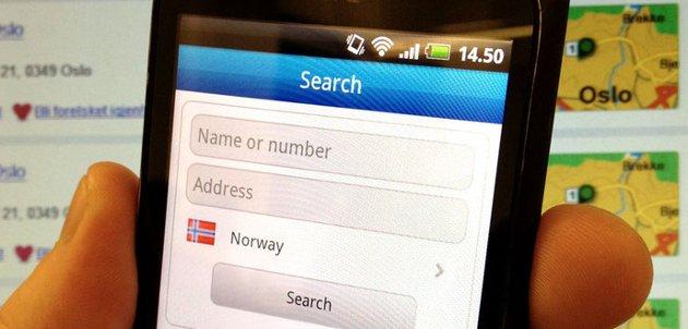 En smartmobil kan hente nummer og opplysninger helt gratis.