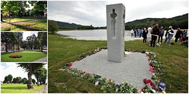 Skal minnesmerket stå i Museumsparken (øverst), på Gamle kirkeplass eller i kirkegårdsparken?