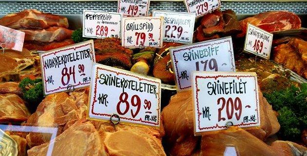 Et lite norsk kjøttberg, halvparten av det er produsert ved hjelp av importerte råvarer til kraftfôr og vi er mer avhengig av utenlandsk korn enn noen gang før. Men noe kriselager av korn i tilfelle global uro har vi ikke. foto terje holm