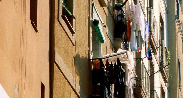 Et spennende sted å ha «hytte». Bildet er fra strøket Barri Gotic.