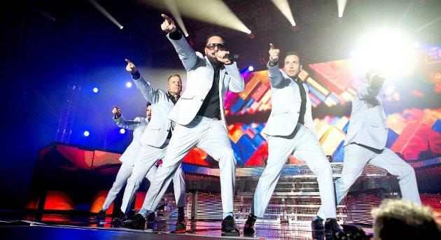 Backstreet Boys besøkte Trondheim, Oslo og Stavanger i førsten av mars i år. Her fra konserten i Bergen. Foto: SKJALG EKELAND/BA.no
