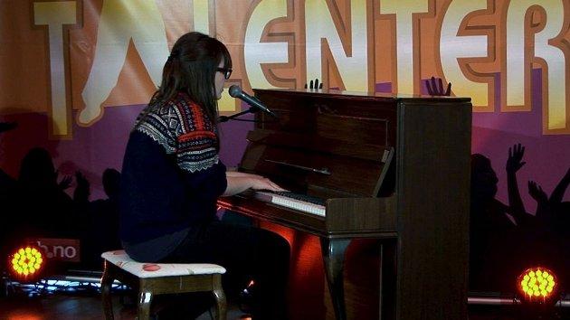 ANNENPLASS: Tilla Gaasø fra Nøtterøy ligger på annenplass i talentkonkurransen.