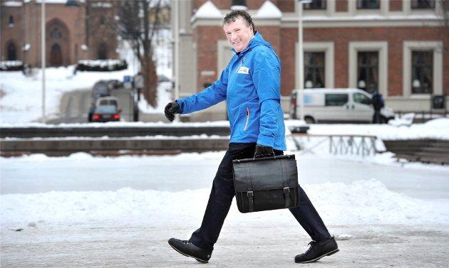 Arne Madsen, sjef for skisprinten på Bragernes torg, takker det lokale næringslivet og kommunen for at det er liv laga for en åttende utgave av verdenscupsprinten i sentrum.